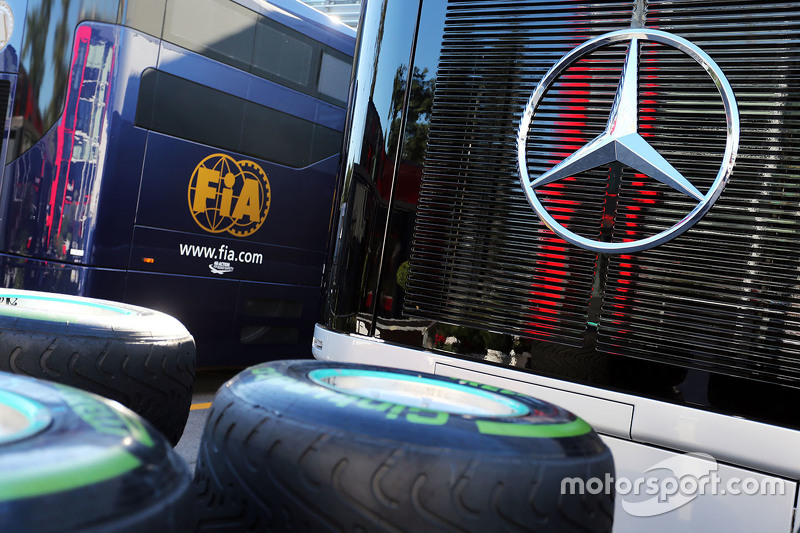 Pirelli tyres for Mercedes AMG F1