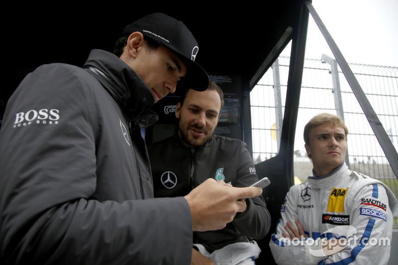 Robert Wickens, HWA AG Mercedes-AMG C63 DTM, Gary Paffett, ART Grand Prix Mercedes-AMG C63 DTM, Lucas Auer, ART Grand Prix Mercedes-AMG C63 DTM