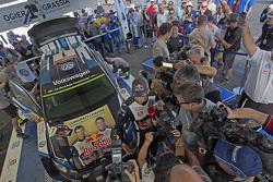 Winners and 2015 WRC champions Sébastien Ogier and Julien Ingrassia, Volkswagen Polo WRC, Volkswagen