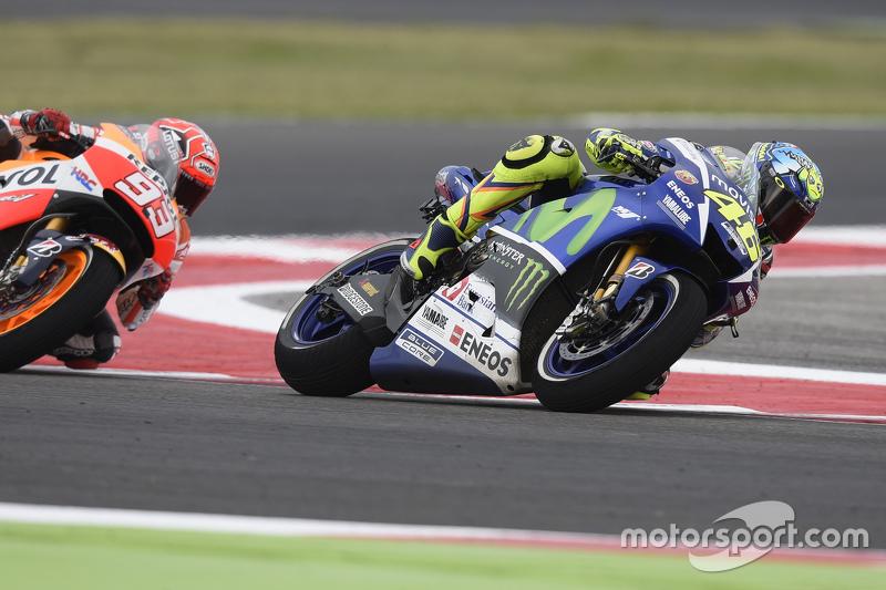 Valentino Rossi, Yamaha Factory Racing, und Marc Marquez, Repsol Honda Team