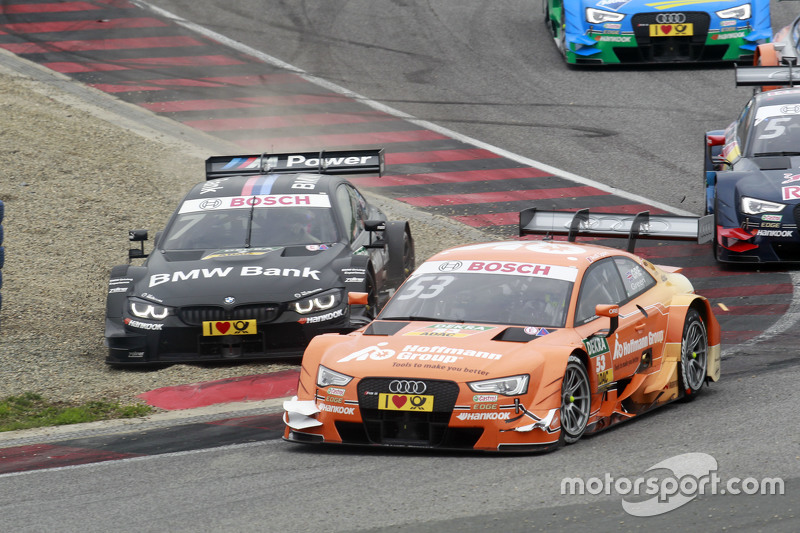 Jamie Green, Audi Sport Team Rosberg Audi RS 5 DTM and Bruno Spengler, BMW Team MTEK BMW M4 DTM