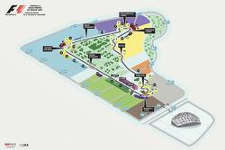 Mappa finale del Circuito Autódromo Hermanos Rodríguez per il GP del Messico