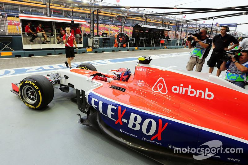 Alexander Rossi, Manor F1 Team, fährt aus der Box