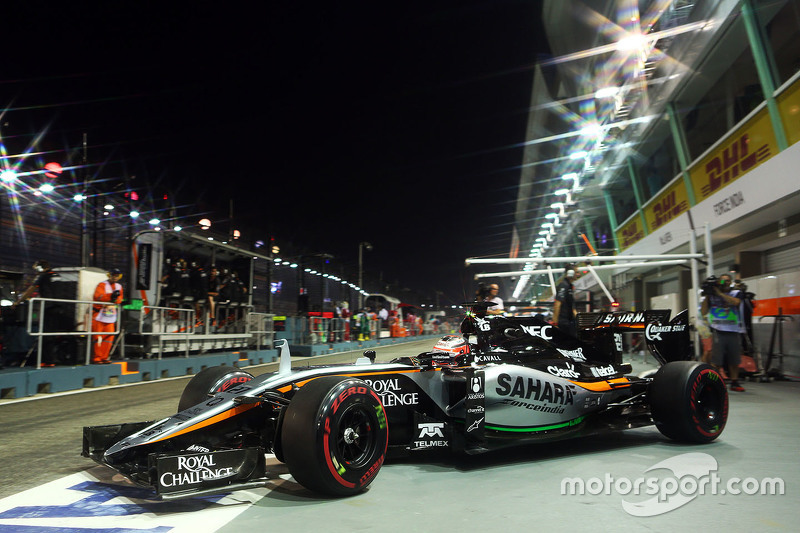 Nico Hulkenberg, Sahara Force India F1 VJM08 leaves the pits