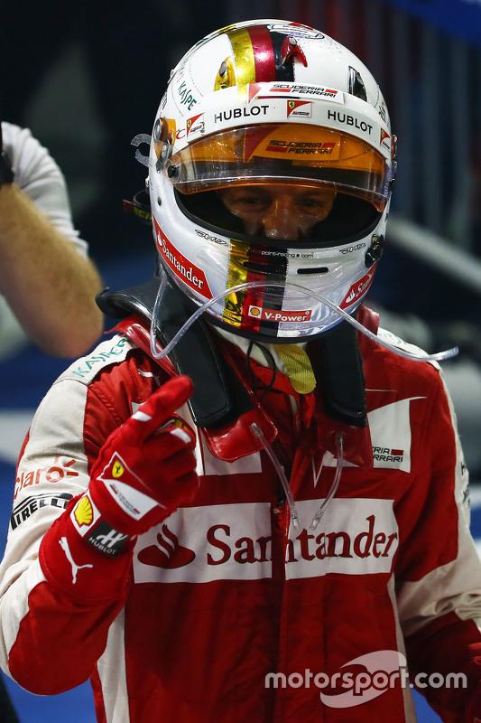 Race winnaar Sebastian Vettel, Ferrari