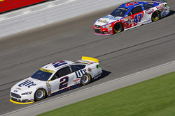 Brad Keselowski, Team Penske Ford; A.J. Allmendinger, JTG Daugherty Racing Chevrolet