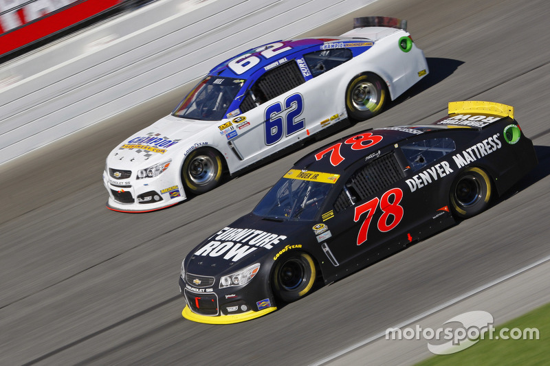 Martin Truex Jr., Furniture Row Racing Chevrolet and Timmy Hill