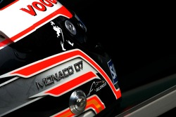 Fernando Alonso, McLaren Mercedes, helmet, with Steinmetz Diamonds
