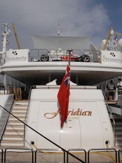McLaren Mercedes on the Steinmetz boat