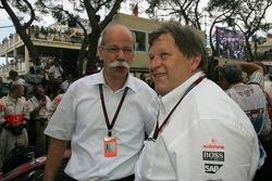 Dr. Dieter Zetsche, Chairman of Daimler with Norbert Haug, Mercedes, Motorsport chief