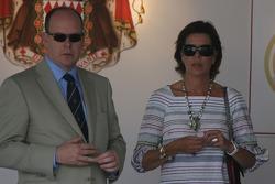 El príncipe Alberto II de Mónaco, princesa Caroline de Mónaco