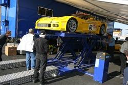 Corvette Racing Corvette at scrutineering