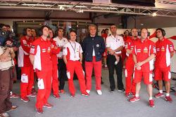 Pramac D'Antin team watches qualifying