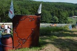 Eine Karte der Nordschleife beim Karussell
