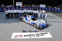 #35 Saulnier Racing Courage LC75 AER: Jacques Nicolet, Alain Filhol, Bruce Jouanny