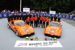 #81 Team LNT Panoz Esperante: Tom Kimber-Smith, Danny Watts, Tom Milner, #82 Team LNT Panoz Esperante: Lawrence Tomlinson, Richard Dean, Robert Bell