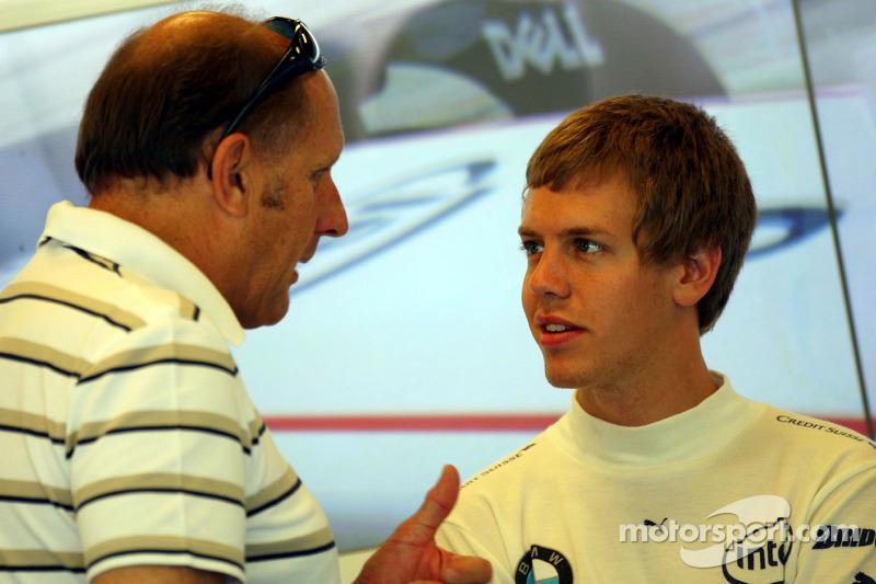 Себастьян Феттель, тест-пілот, Test Driver, BMW Sauber F1 Team, та Ганс-Йоахім Штюк
