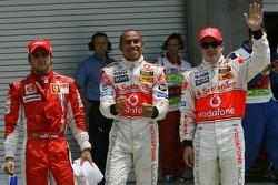 Pole Position, 1st, Lewis Hamilton, McLaren Mercedes, MP4-22, 2nd, Fernando Alonso, McLaren Mercedes, MP4-22, 3rd, Lewis Hamilton