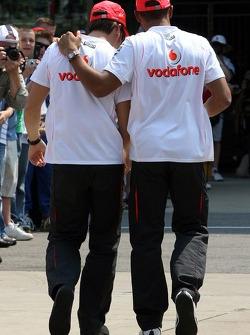 Fernando Alonso, McLaren Mercedes and Lewis Hamilton, McLaren Mercedes
