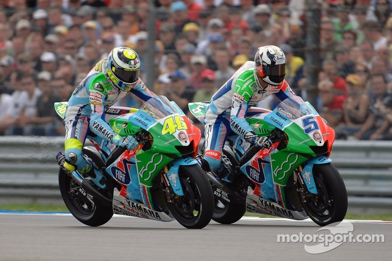 Valentino Rossi and Colin Edwards, Yamaha - Dutch TT 2007