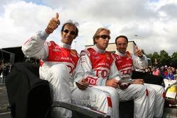 Emanuele Pirro, Frank Biela and Marco Werner