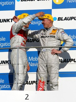 Podium: Mika Hakkinen, Team HWA AMG Mercedes and Mattias Ekström, Audi Sport Team Abt Sportsline