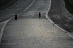 Heavy rain at Mulsanne corner