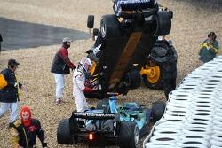 Nico Rosberg, Williams FW29; Jenson Button, Honda Racing F1 Team RA107