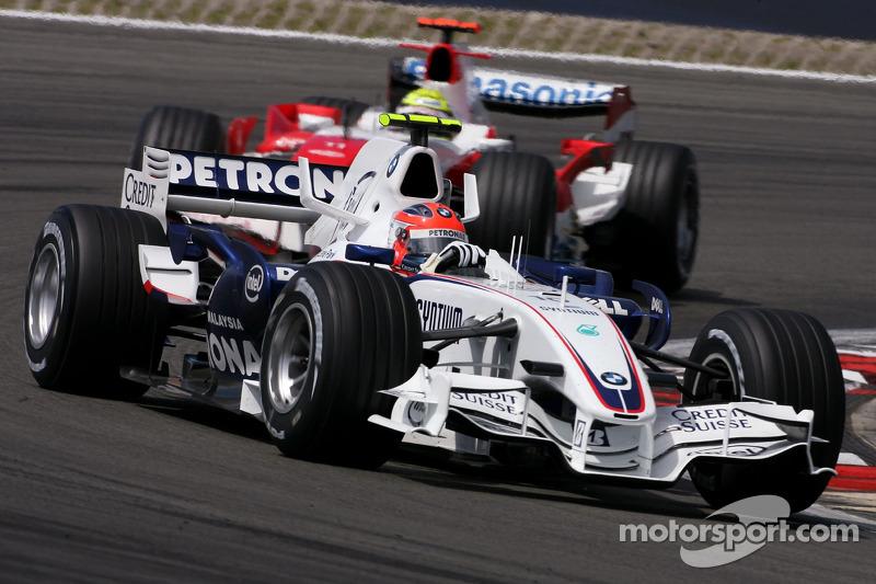 Robert Kubica, BMW Sauber F1 Team , Ralf Schumacher, Toyota Racing
