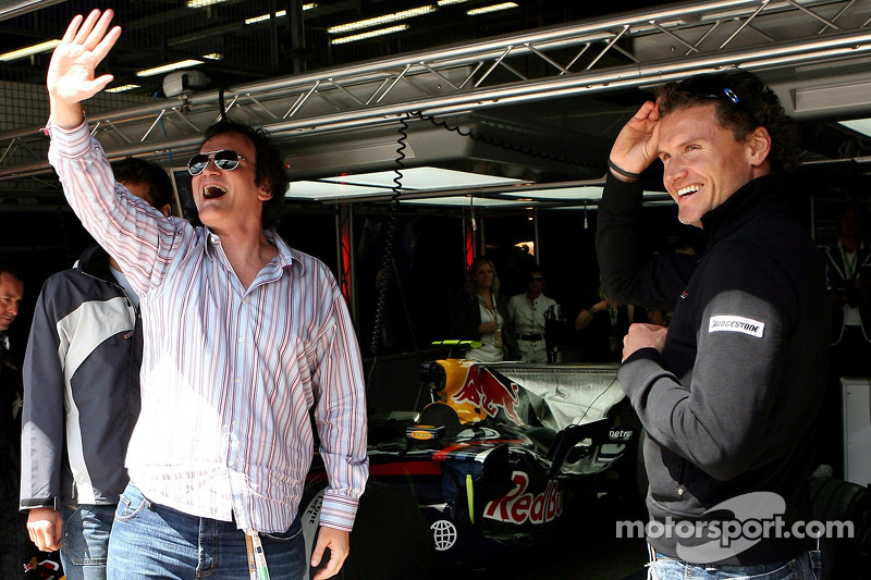 David Coulthard, Red Bull Racing, mit Qentin Tarantino, Regisseur