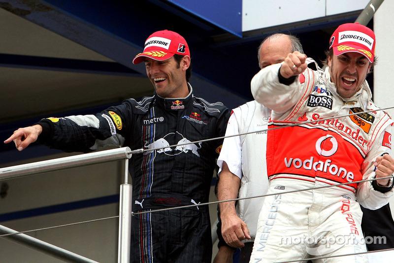 Марк Веббер, Red Bull Racing, Фернандо алонсо, McLaren Mercedes