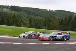 #215 S-berg Racing Lamborghini Gallardo GT3: Jan Charouz, Jaromir Jirik, #116 Signa Motorsport Dodge Viper Comp. Coupé: Patrick Chaillet, Laurent Nef, Christophe Geoffroy