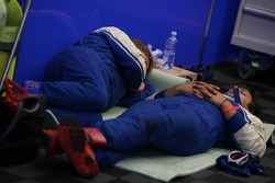 A power nap between two pitstops