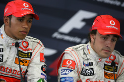 Qualifying press conference: pole winner Fernando Alonso, second Lewis Hamilton