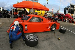Pitstop for #7 Tuttle Team Racing Pontiac Riley: Brian Tuttle, Jonathan Cochet