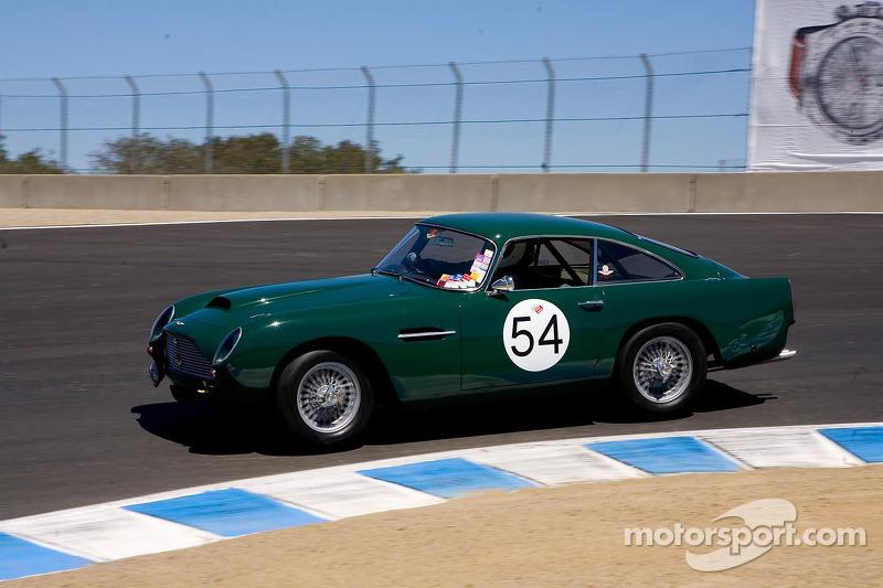 Len Auerbach Aston Martin DB At Monterey Historics - Aston martin vintage