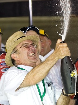 Victory lane: Jack Roush celebrates