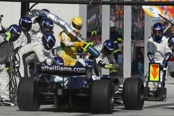 Nico Rosberg, WilliamsF1 Team, FW29 pit stop