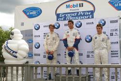 The podium: Esteban Gutierrez, Daniel Morad, Maxime Pelletier