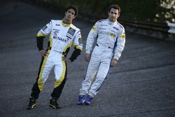 2007 Championship rivals Timo Glock and Lucas di Grassi Monza banking