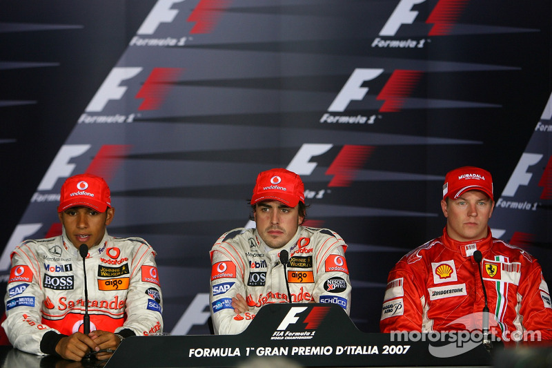 Press conference: race winner Fernando Alonso and Lewis Hamilton and Kimi Raikkonen