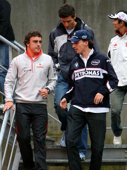 Fernando Alonso, McLaren Mercedes, Robert Kubica,  BMW Sauber F1 Team
