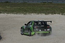 Spin for #40 Hyper Sport Mazda RX-8: Joe Foster, Charles Espenlaub, Patrick Dempsey