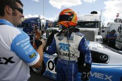 DP and overall pole winner Scott Pruett celebrates