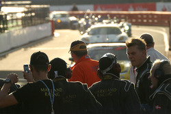 Cars return to pitlane