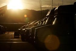 Sunrise on the Miller Motorsports Park paddock