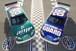 Die Autodesigns für Dale Earnhardt Jr., Hendrick Motorsports Chevrolet, in der Sprint-Cup-Saison 200