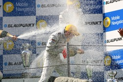 Podium: champagne all over the place