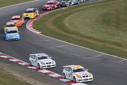 Felix Porteiro, BMW Team Italy-Spain, BMW 320si WTCC et Andy Priaulx, BMW Team UK, BMW 320si WTCC