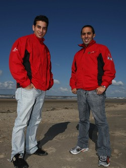 Blokarting: Chris Alajajian, driver of A1 Team Lebanon and Khalil Beschir, driver of A1 Team Lebanon